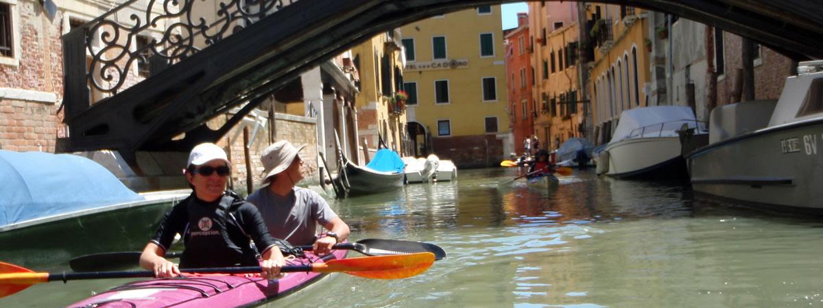 Venise en kayak